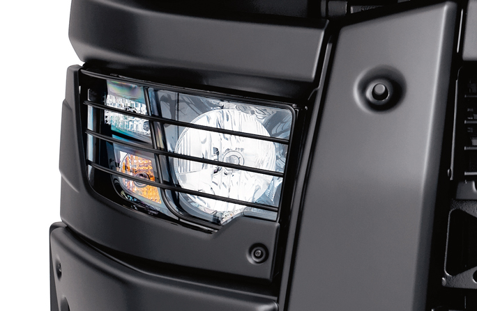 POLYCARBONATE HEADLIGHTS AND OPTIC PROTECTION GRIDS